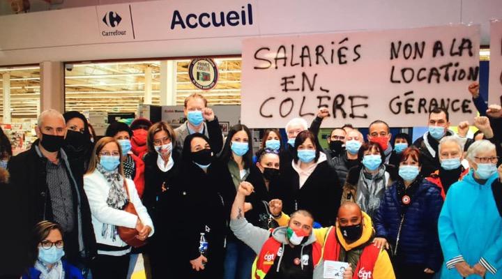 AUX CÔTÉS DES SALARIÉS DE CARREFOUR