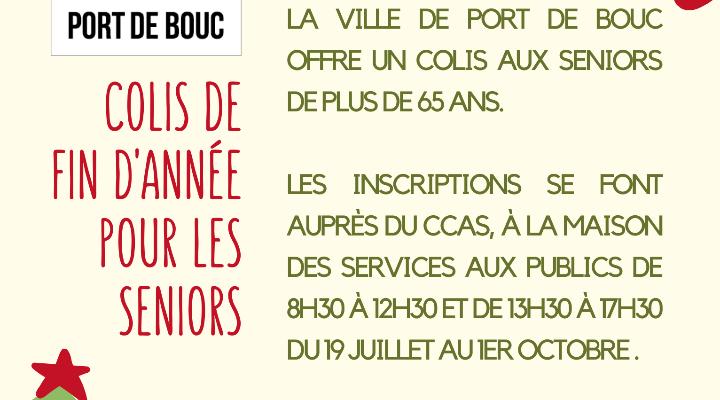 INSCRIPTIONS : COLIS DE FIN D'ANNÉE POUR LES SENIORS